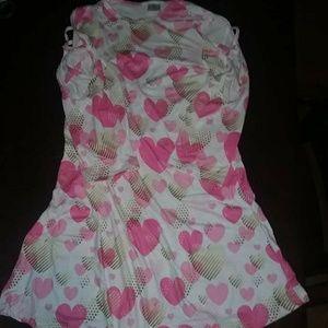 Other - 10/12 Boutique Criss Cross Sleeve Heart Dress